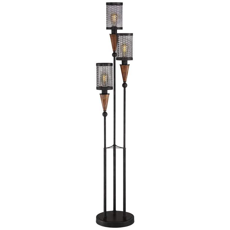 Franklin Iron Works Hunter 3-Light Floor Lamp