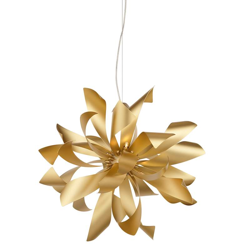 "Possini Euro Baldwin 25 1/2"" Wide Gold 6-Light Pendant"