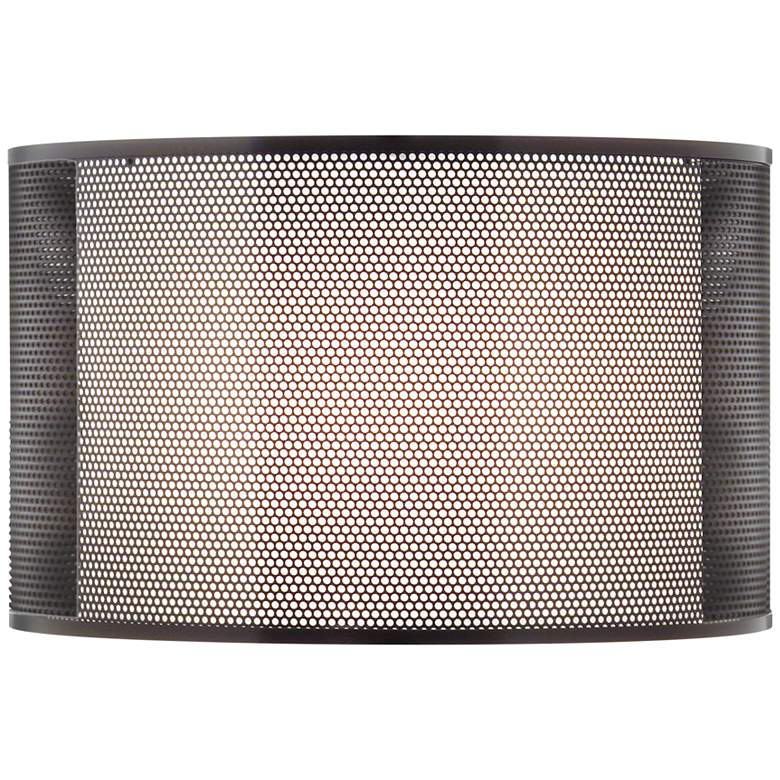 Metal and Linen Double Drum Lamp Shade 16x16x10 (Spider)