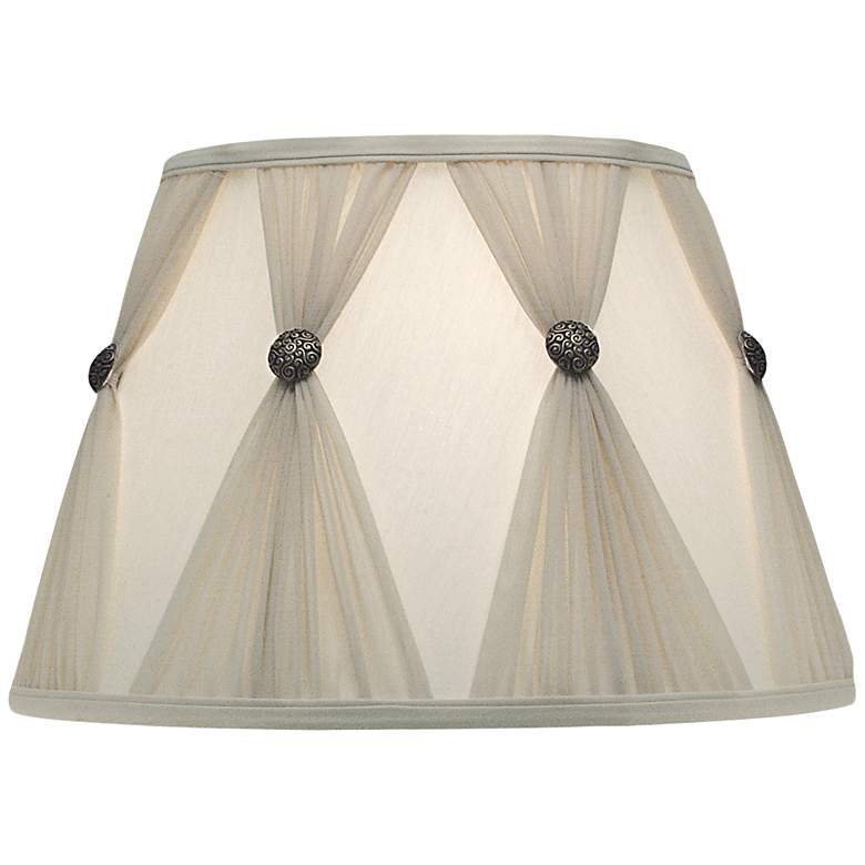 Stiffel Ivory Champagne Pinch Pleat Shade 11x18x12 (Spider)