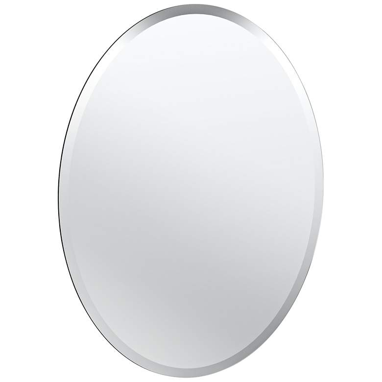 "Cameo Flush Mount 19 1/2"" x 26 1/2"" Frameless Mirror"