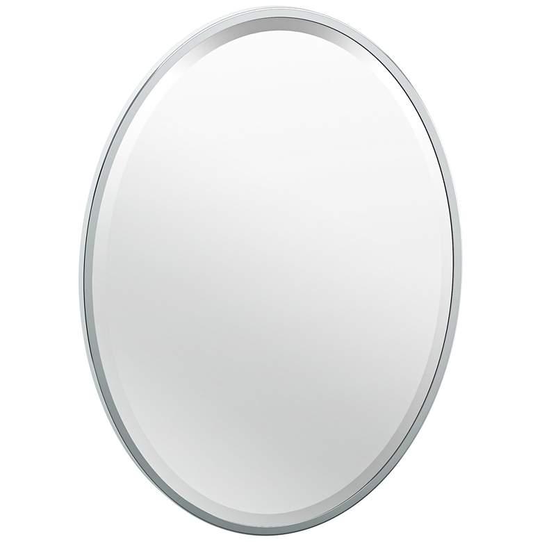 "Luxe Chrome 20 1/2"" x 27 1/2"" Flush Mount Framed Wall Mirror"