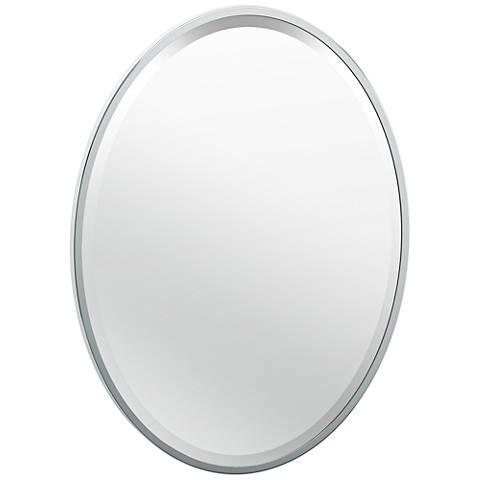 """Luxe Flush Mount Chrome 20 1/2"""" x 27 1/2"""" Framed Mirror"""