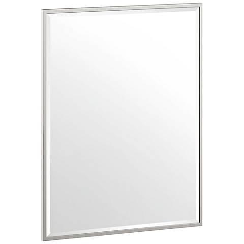 "Luxe Flush Mount Nickel 24 1/2"" x 32 1/2"" Framed Mirror"