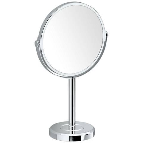 Gatco Latitude II Chrome Table Makeup Mirror