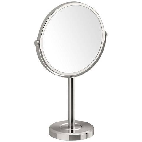 Gatco Latitude II Satin Nickel Table Makeup Mirror
