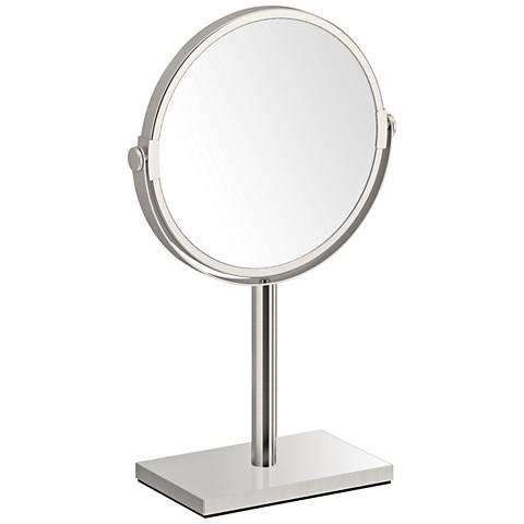 Gatco Latitude III Satin Nickel Countertop Makeup Mirror