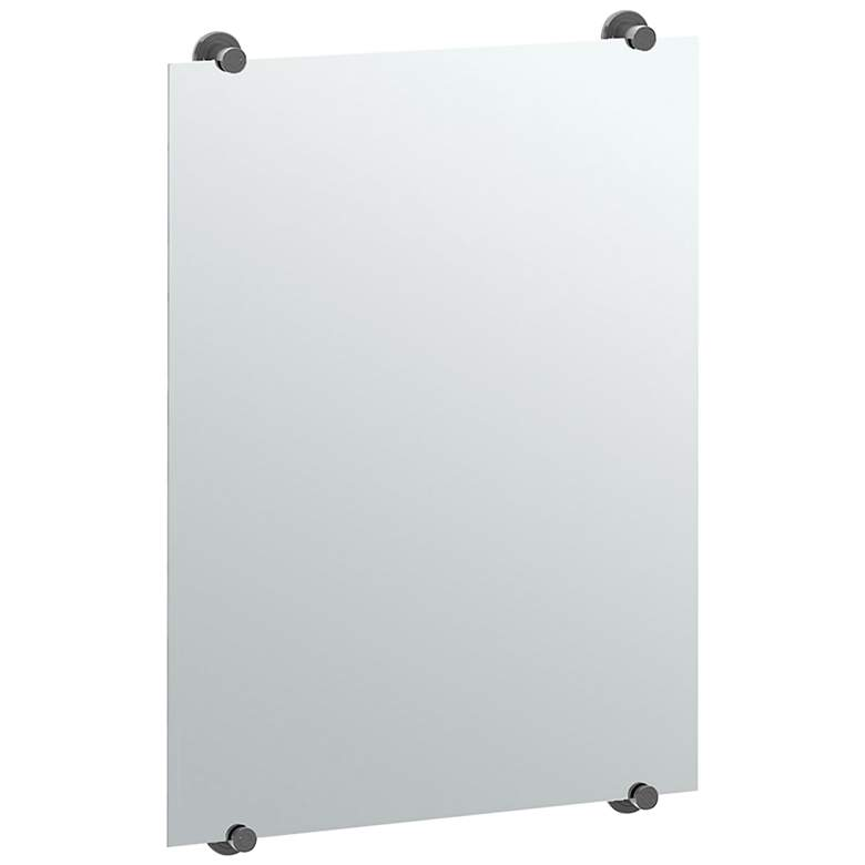 "Latitude II Fix Mount Black 22"" x 32"" Frameless Mirror"