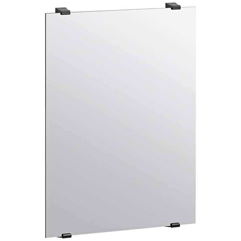 """Bleu Fix Mount Matte Black 22"""" x 31"""" Frameless Mirror"""