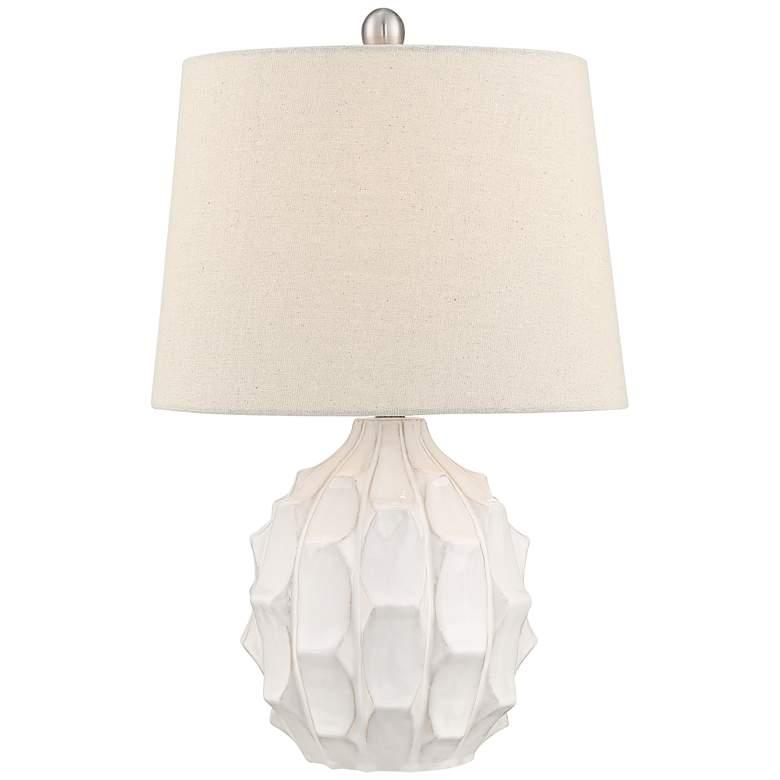 Ellen White Sculptured Ceramic Table Lamp