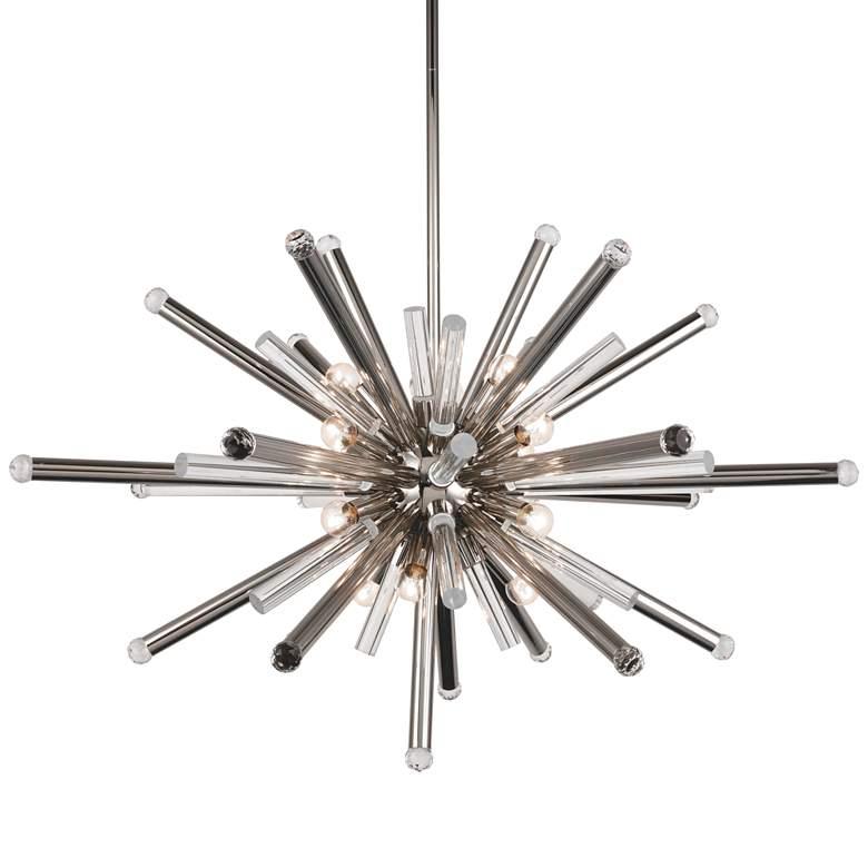 "Maxwell 38"" Wide Polished Nickel 14-Light Modern Pendant"