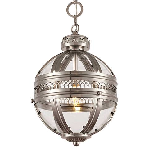 "Casanova 12"" Wide Satin Nickel Mini Pendant"