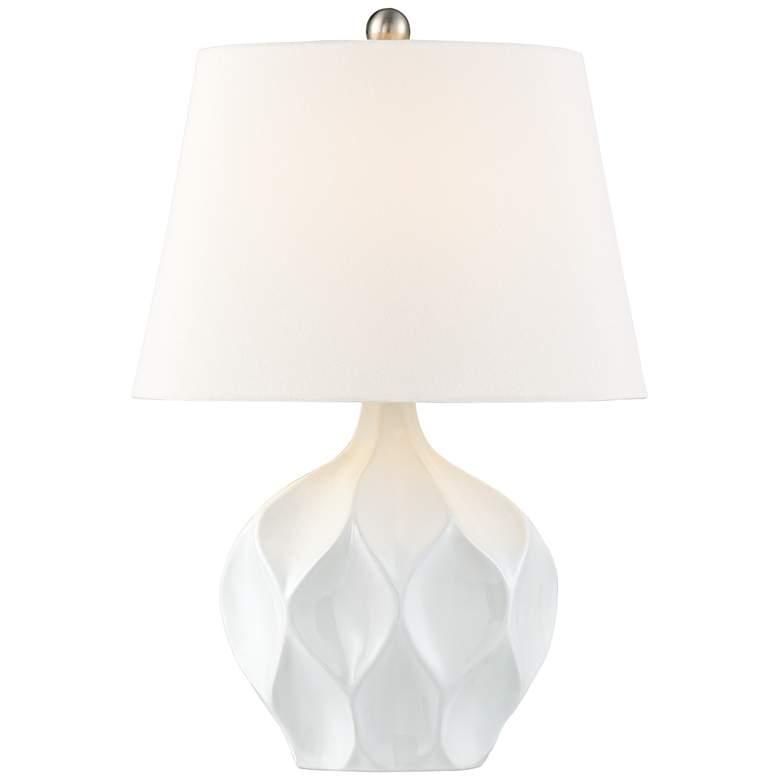 Dobbs White Ceramic Accent Table Lamp