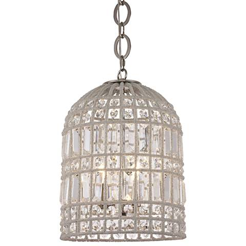 "Capistrano 12"" Wide Polished Nickel Mini Pendant"