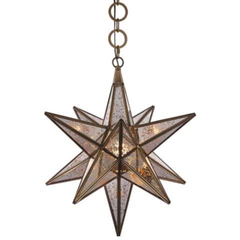 Orion 18 Quot Wide Dark Antique Brass Pendant Light 39t89
