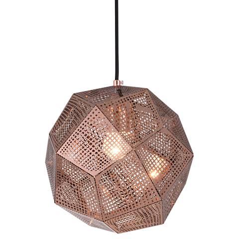 """Kronos 9 1/2"""" Wide Copper Mini Pendant"""