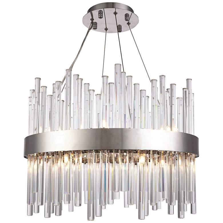 """Dallas 20"""" Wide Chrome and Crystal Chandelier"""