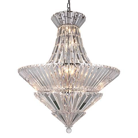 Tribeca 30 wide chrome and crystal chandelier 39v06 lamps plus tribeca 30 wide chrome and crystal chandelier aloadofball Images