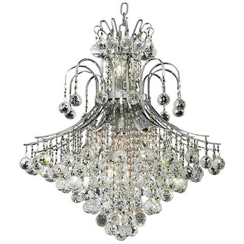 "Toureg 25"" Wide Chrome and Crystal 15-Ligh Chandelier"