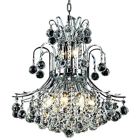 "Toureg 19"" Wide Chrome and Crystal 10-Light Chandelier"