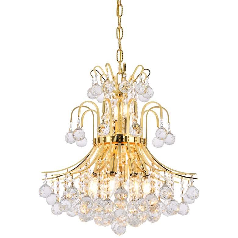 "Toureg 19"" Wide Gold and Crystal 10-Light Chandelier"
