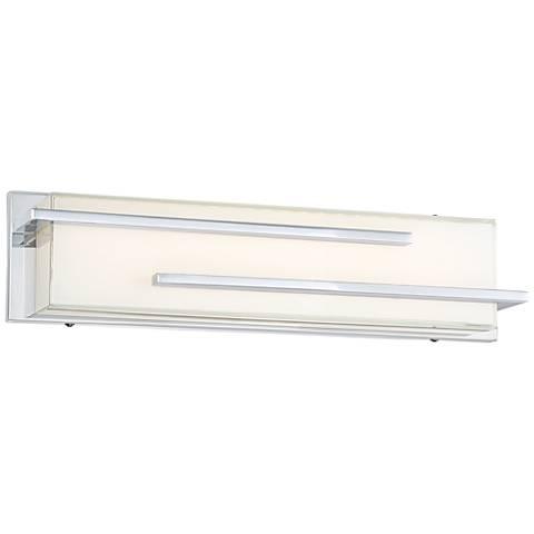 """Possini Euro Design Jada 18 1/4"""" Wide Chrome LED Bath Light"""