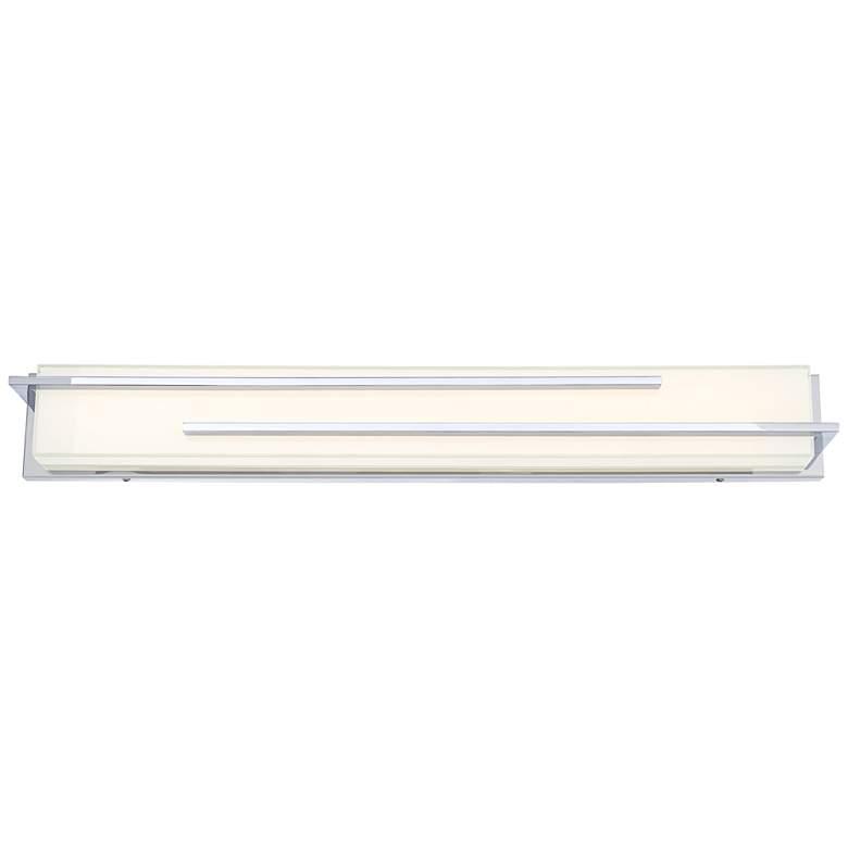 """Possini Euro Design Jada 33 3/4"""" Wide Chrome LED Bath Light"""