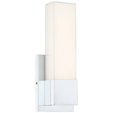 "Possini Euro Zelda 13 1/2"" High Chrome LED Sconce"