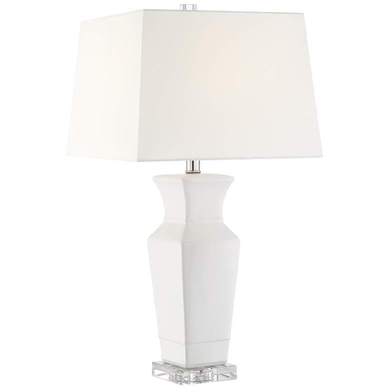 Maya Ivory Ceramic Table Lamp