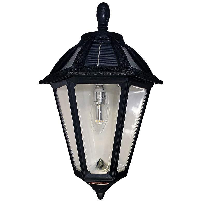 "Polaris 17 1/2""H Black Solar LED Outdoor Wall Light"