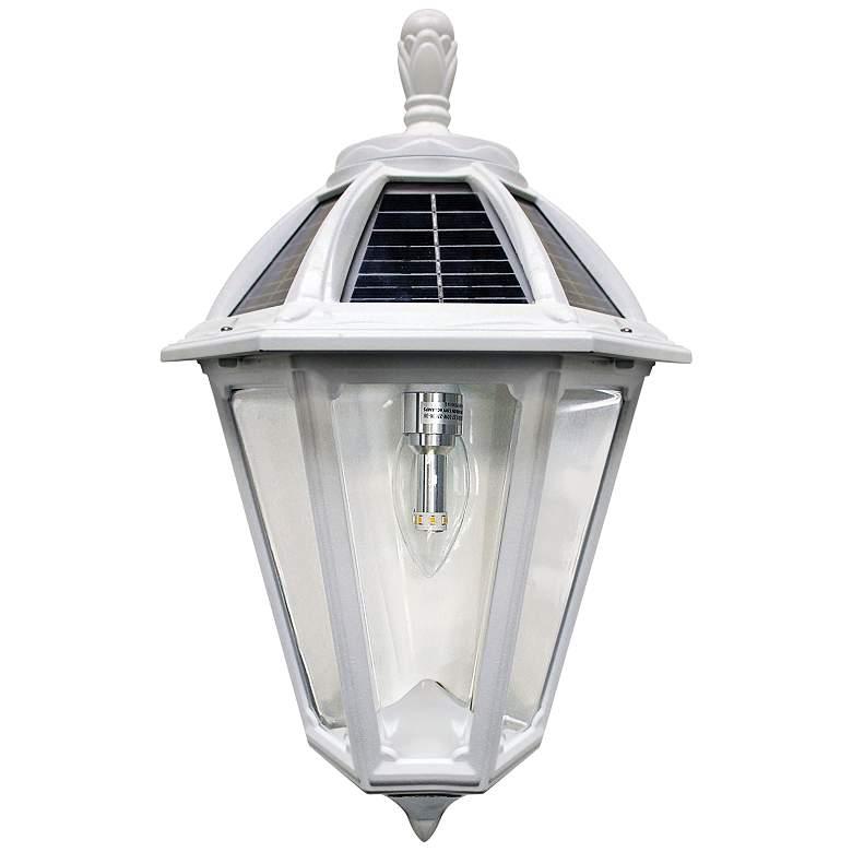 "Polaris 17 1/2""H White Solar LED Outdoor Wall Light"