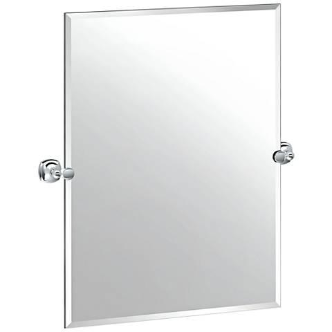 "Gatco Lucerne Chrome 28 1/4"" x 31 1/2"" Frameless Wall Mirror"