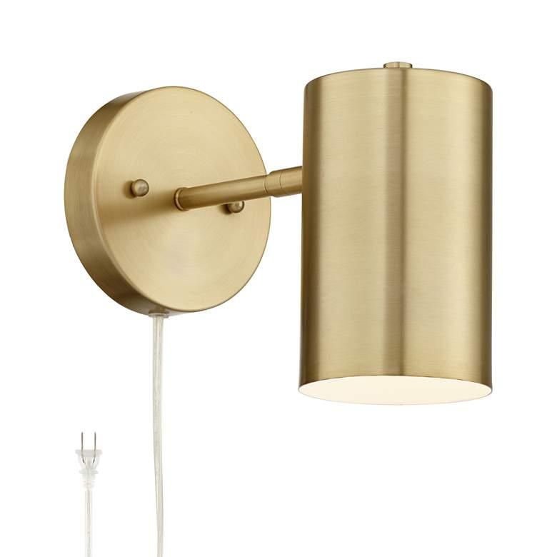 Carla Polished Brass Down-Light Pin-Up Wall Lamp