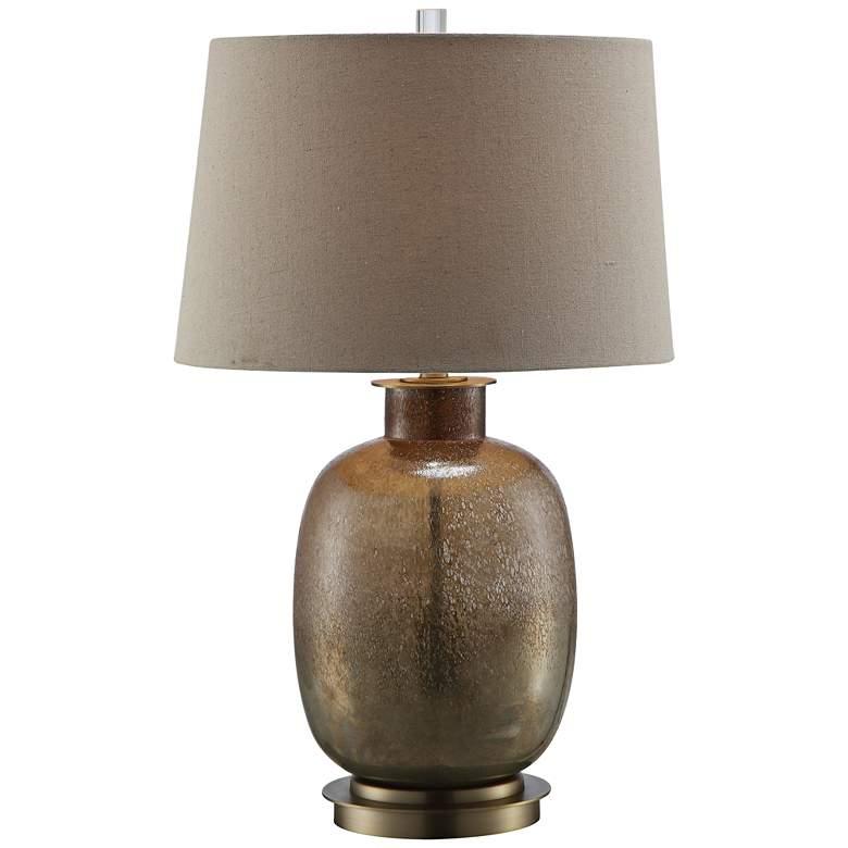 Charlotte Mastic Bronze Glass Table Lamp