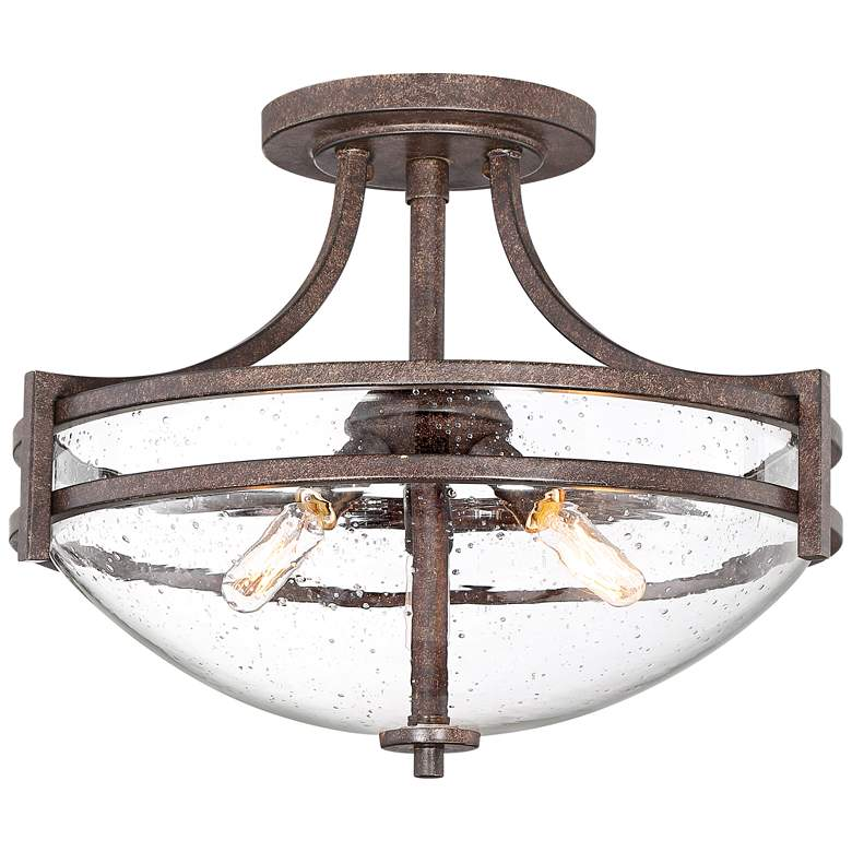 """Oak Valley Collection 18"""" Wide Clear Glass Ceiling Light"""