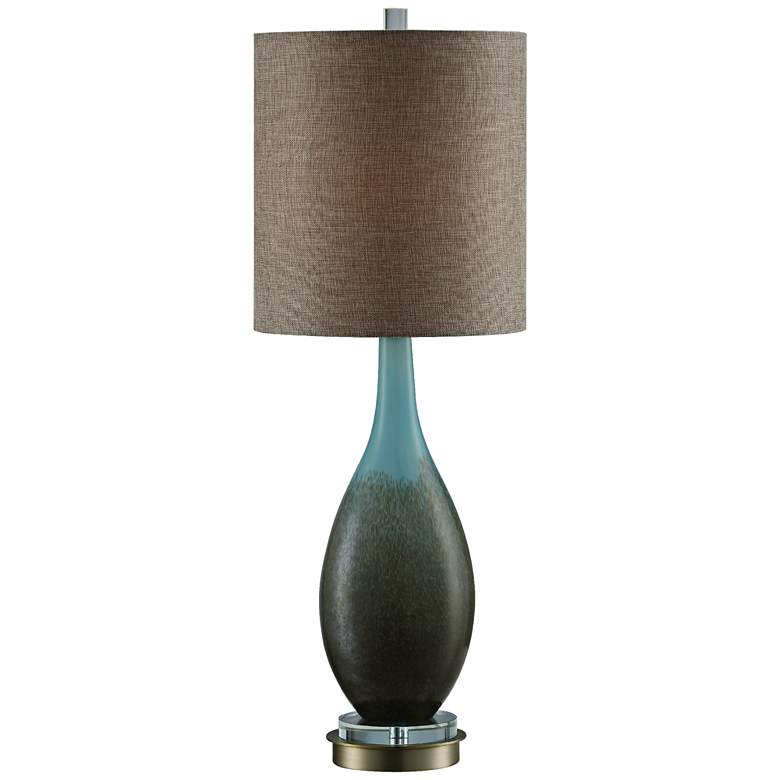 Crestview Collection Mia Blue Reaction Glass Table Lamp