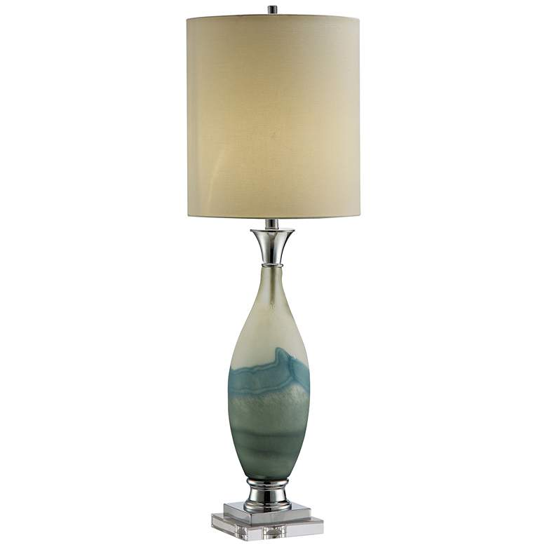 Evelyn Blue and White Layered Glass Table Lamp