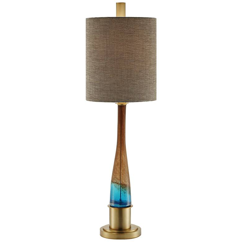 Crestview Collection Oliver Blue and Brown Glass Table Lamp