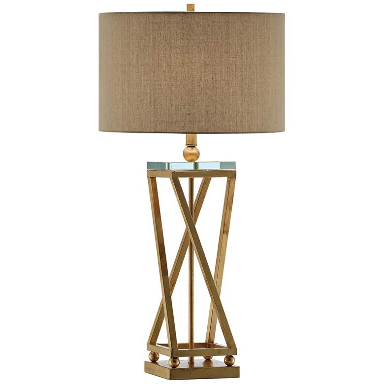 Crestview Collection Aria Gold Leaf Table Lamp