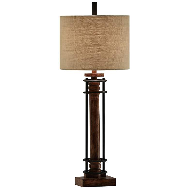 Crestview Collection Garson Wood and Metal Table Lamp