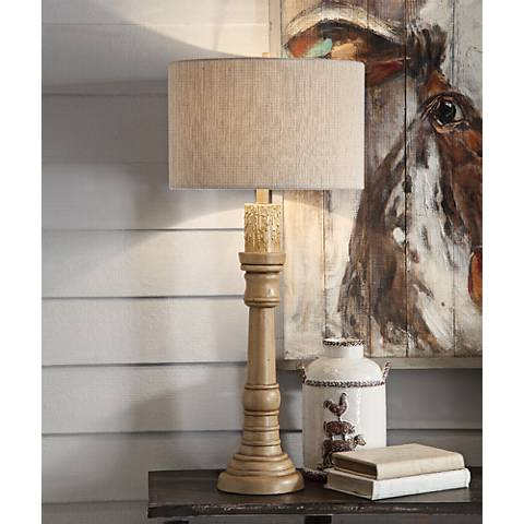 Crestview Collection Clarie Blond Wood Table Lamp