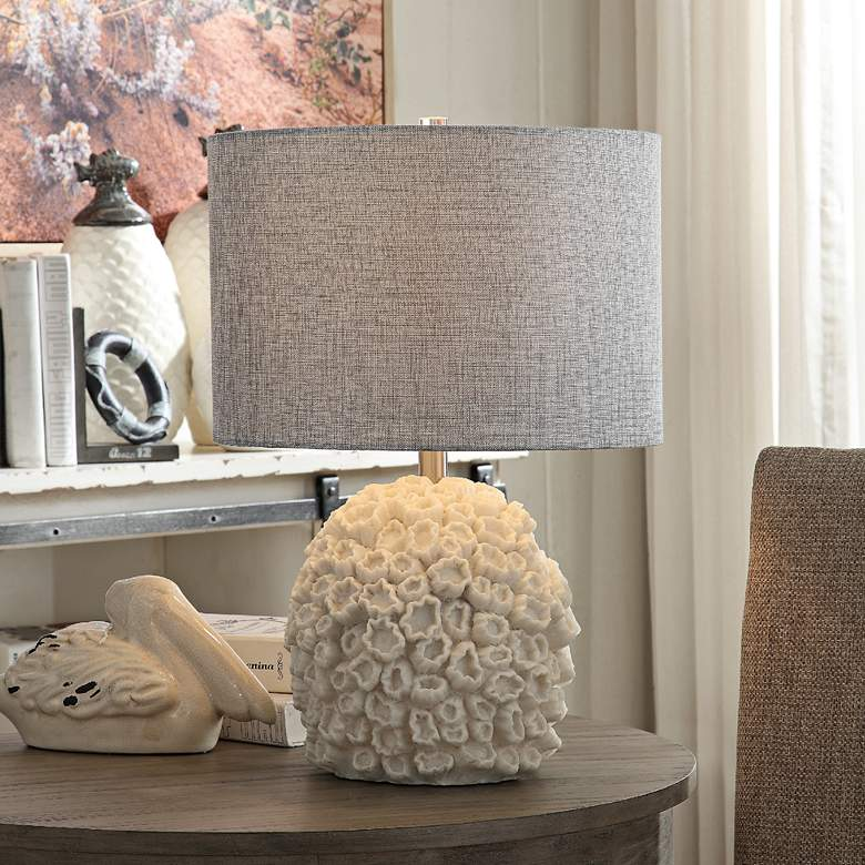Crestview Collection Sea Life White Accent Table Lamp