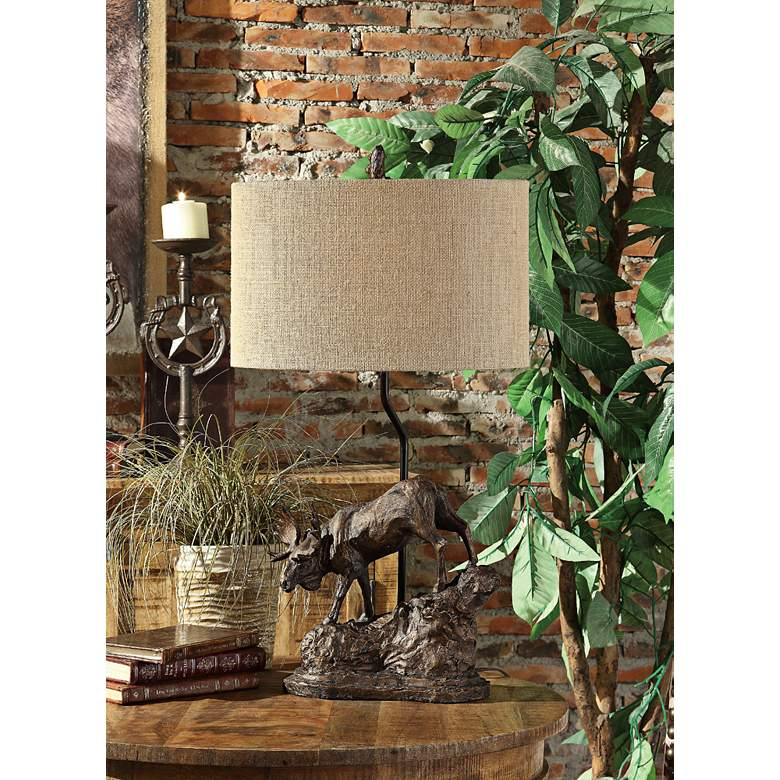 Crestview Collection Moose Antique Bronze Table Lamp