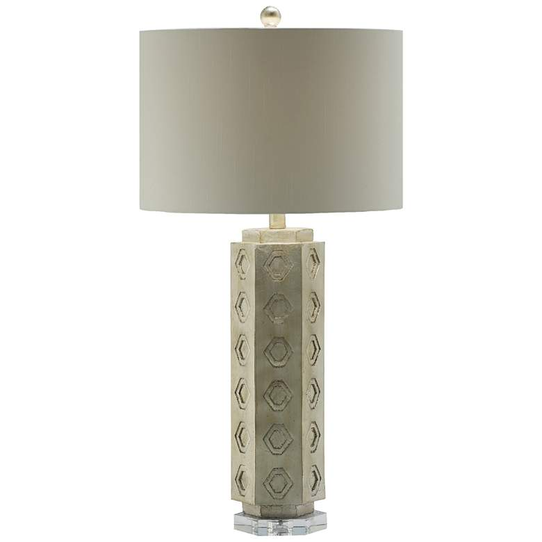 Crestview Collection Tamsen Sparkle Silver Table Lamp