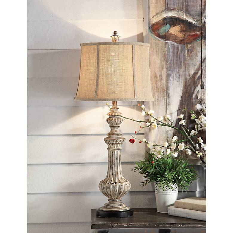 Crestview Collection Cameron Antique Wood Table Lamp