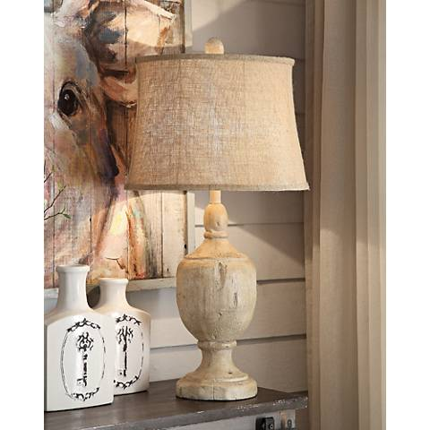 Crestview Collection Carson Bleached Wood Table Lamp