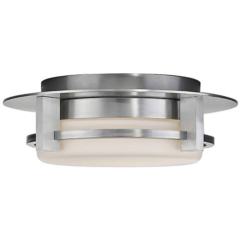 "dweLED Compass 12"" Wide Brushed Aluminum LED Ceiling Light"
