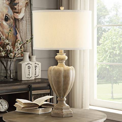 Crestview Collection Hailey Blond Wood Table Lamp