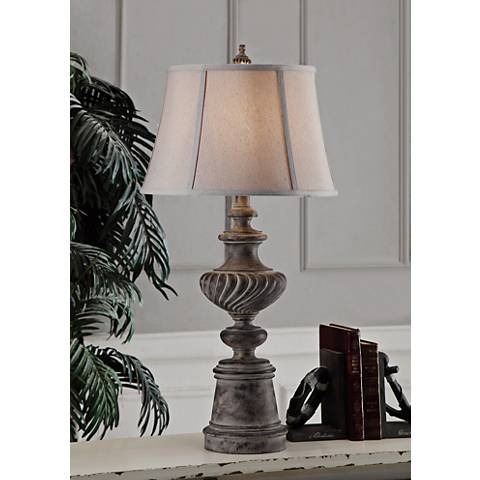 Crestview Collection Kinsley Bleached Iron Table Lamp