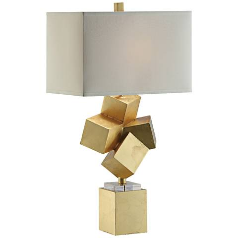 Crestview Collection Balance Gold Leaf Table Lamp
